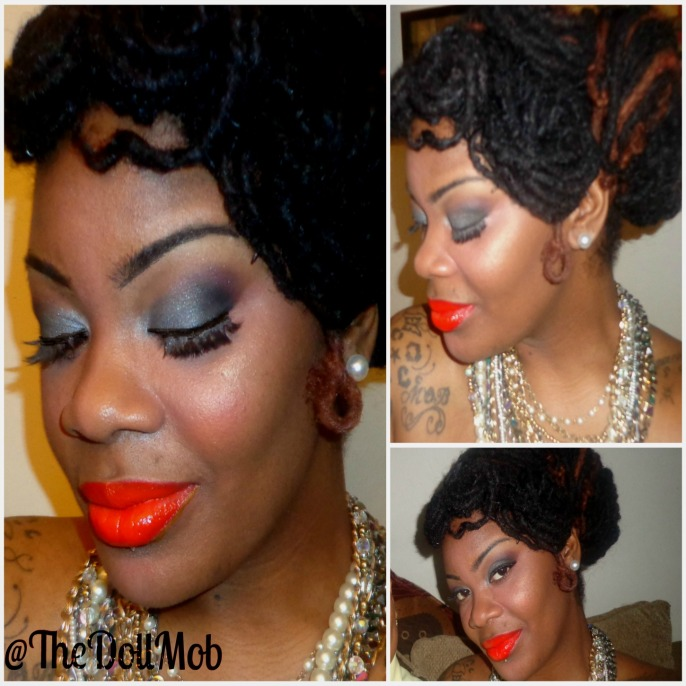 Gunmetal smoke mets a Tangarine Hottie: Face of the day