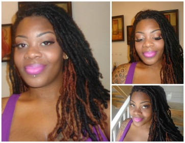 Natural eyes pink lips collage