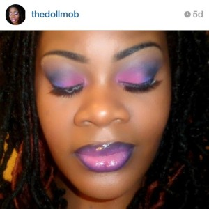 Instagram Purple, Pink, Black, and blue...OMbre Everything
