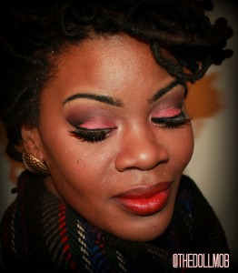 NYE Rainbow look idea Red Gold and black Me 2