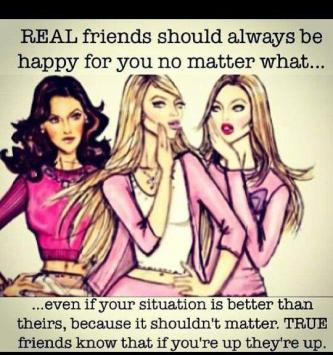 Friends are happy for you