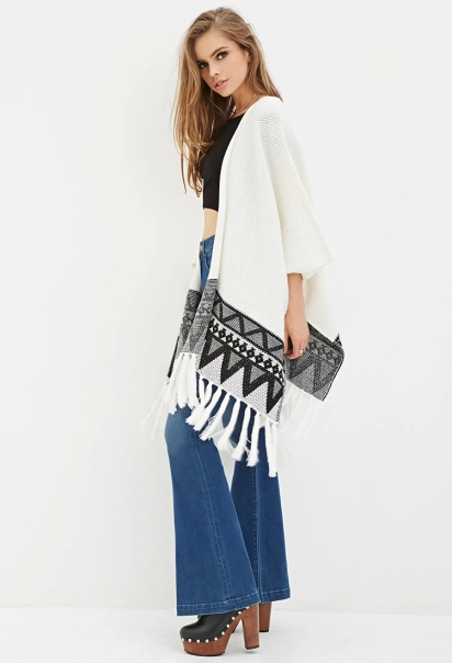 Geo-Patterned Poncho
