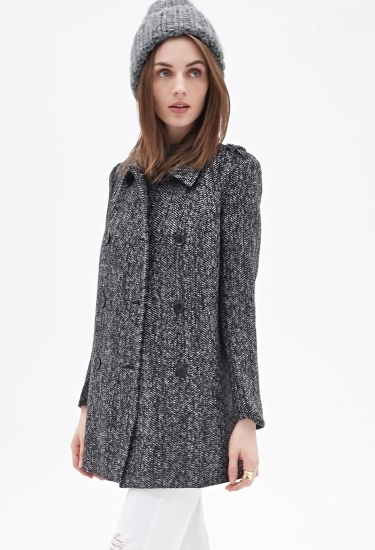 Textured Pea Coat $23